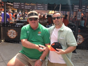 Me, giving Boog Powell an autographed ball cap.